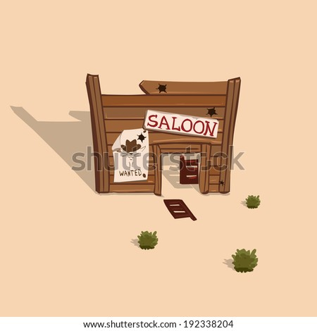 saloon in the wild west vector