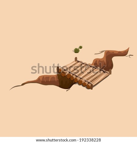 bridge in the wild west vector