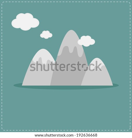 mountain and clouds template