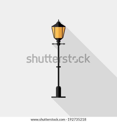 lantern icon flat design style