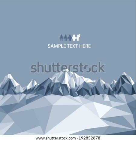 mountains background in glacier