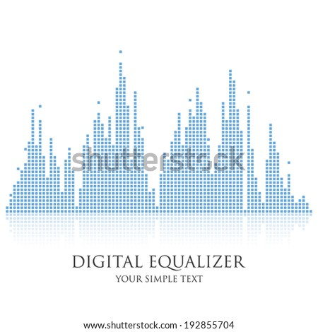 digital equalizer  vector