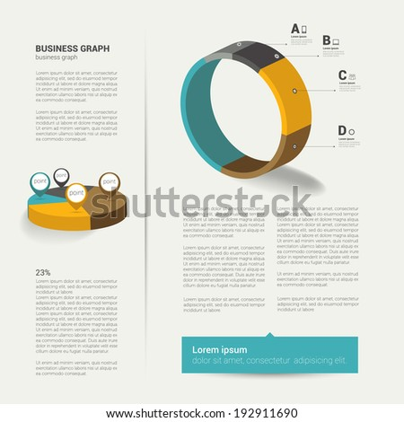 modern flat page layout with