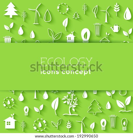 flat eco background concept