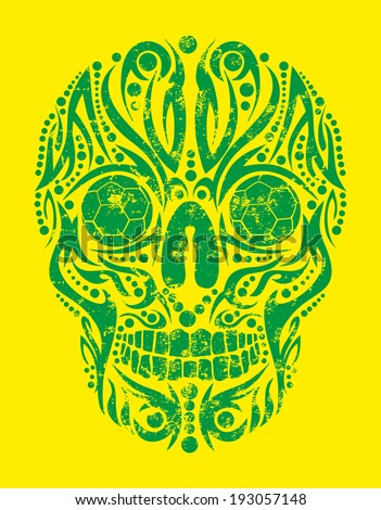 brazilian tattoo tribal skull