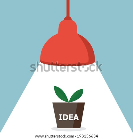 growth of idea with light bulb