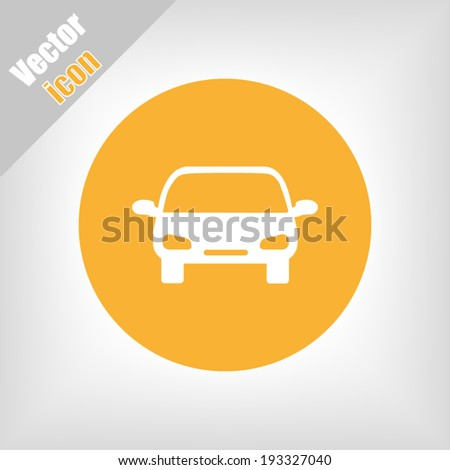 orange circle icon vector