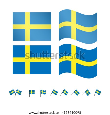 sweden flags eps 10