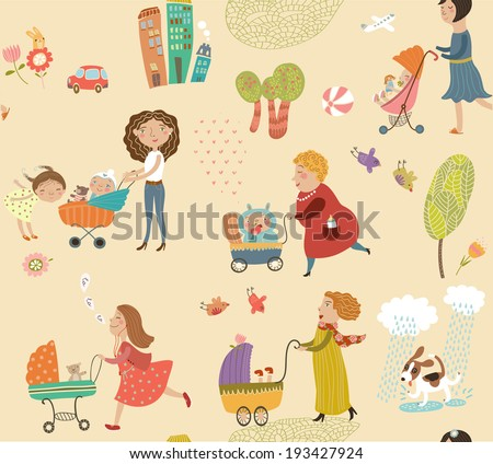 pattern with mothers and