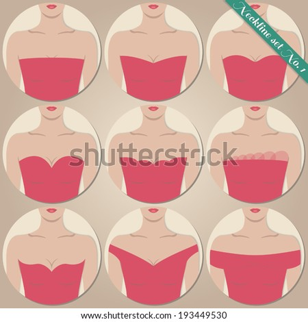 neckline set with naked