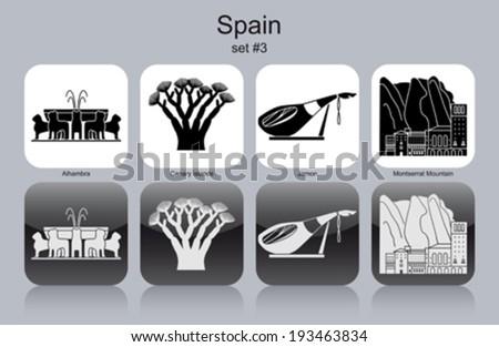 landmarks of spain set of
