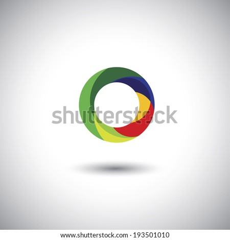 abstract colorful circle icon