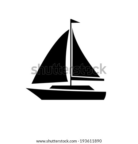 vector flat design sailing