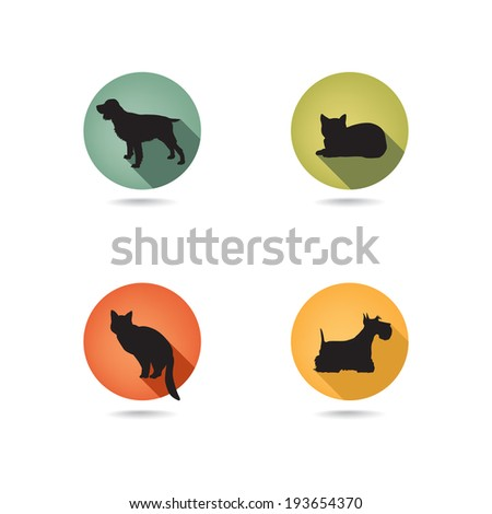 dog and cat set collection of