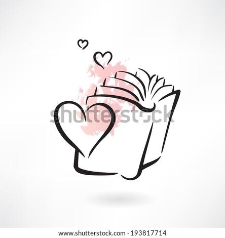 love book grunge icon