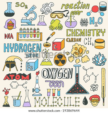 chemistry hand drawn vector