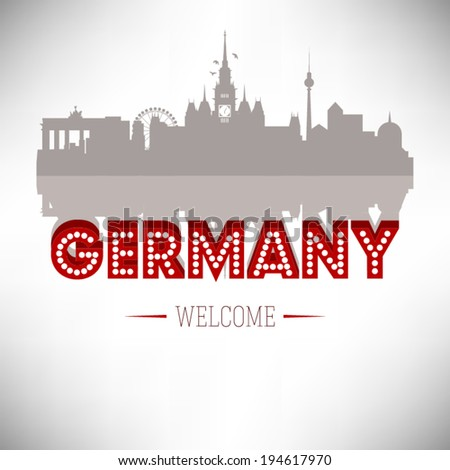 germany skyline silhouette