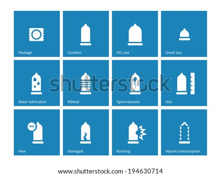 condom and contraception icons