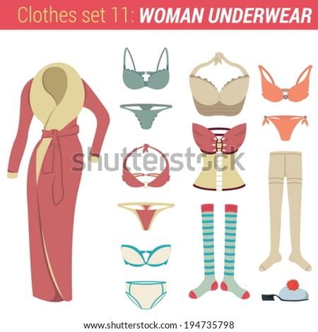 woman underwear clothing vector