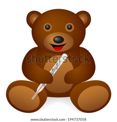 teddy bear medical thermometer