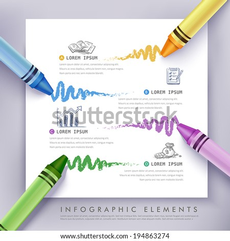 creative infographics template
