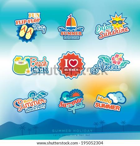 summer label sticker badge icon