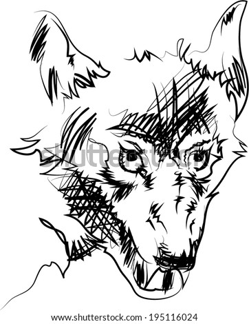 lines wolf vector