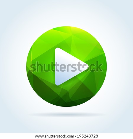 play media button icon with