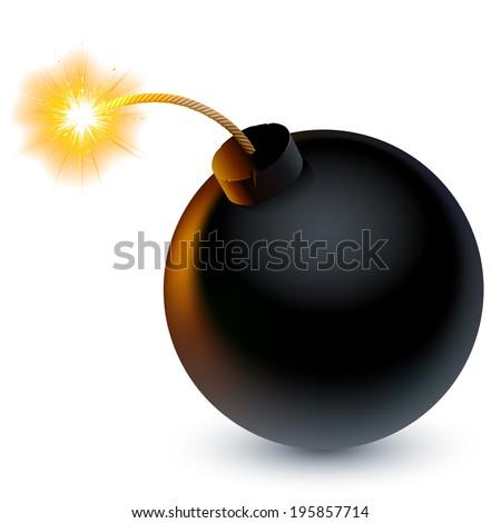 cartoon bomb ready to explode