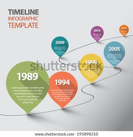 vector retro infographic