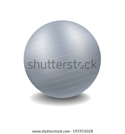 grey gym ball