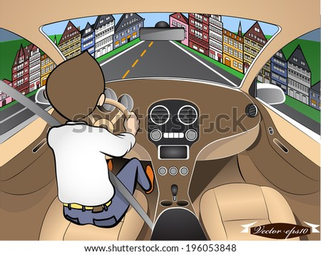 driving car vector