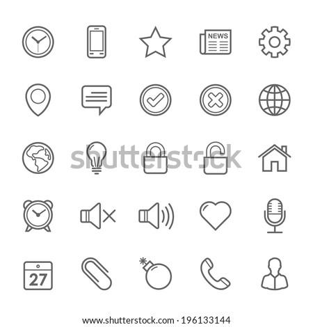 set of outline stroke general