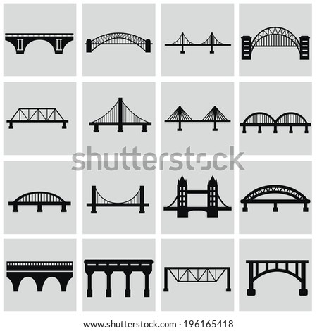 vector isolated bridges big