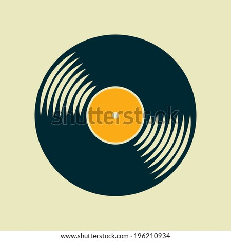 vector vinyl record icon eps10