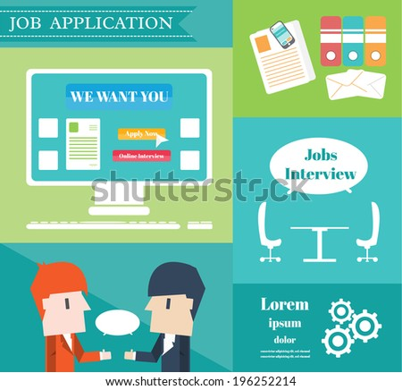 job application vector