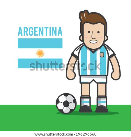 argentina soccer player   vector