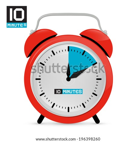 ten 10 minutes red alarm clock