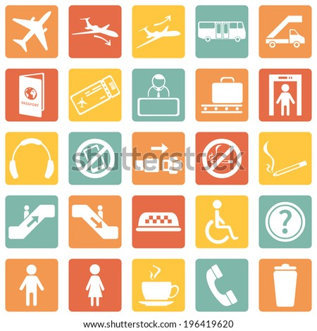vector set of  olor airport