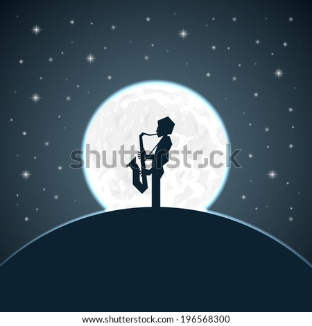 saxophonist silhouette on a