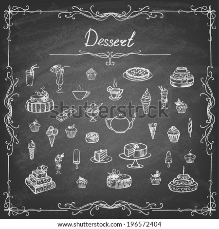 vintage collection of desserts