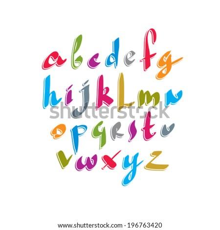 script handwritten font vector