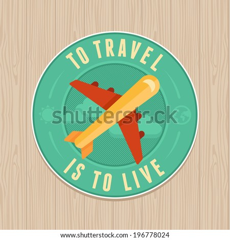 vector vintage badge with quote