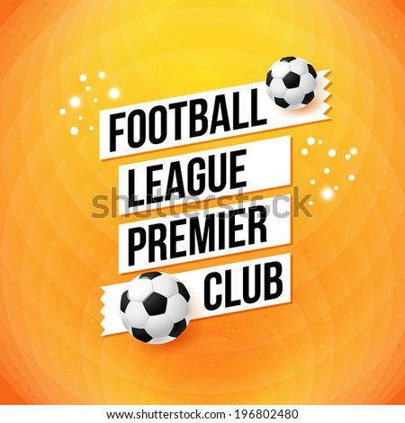 soccer football poster bright