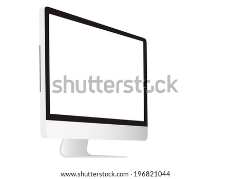 computer with white screen