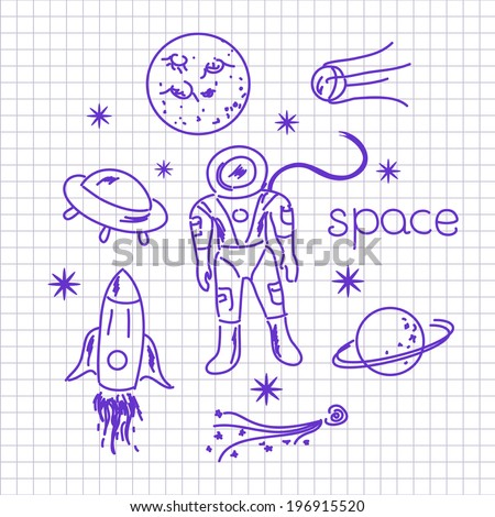 space vector objects drawing