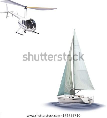 sailing yacht race  angled