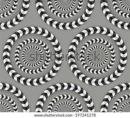rotating circles  optical