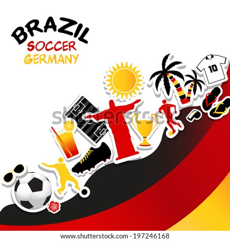 vector   germany soccer fan flag