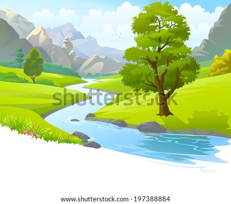 an illustration of a river
